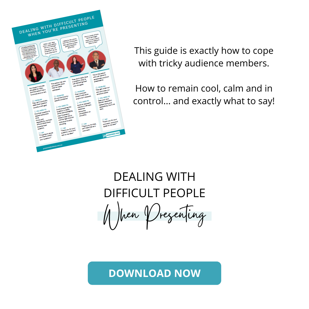 Dealing With Difficult People When Presenting